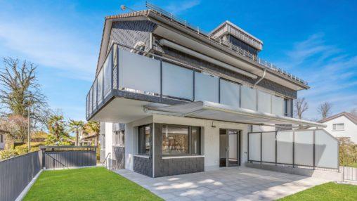 immobilien immofoto aussenaufnahme einfamilienhaus garten ostschweiz