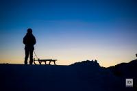 Schlitteln bei Sonnenaufgang - Fotoshooting für Kronberg Luftseilbahn AG