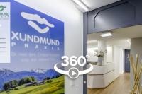 Virtueller Rundgang durch die frisch renovierte Zahnarztpraxis XUNDMUND