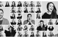 Lebendige Mimik - Eine Collage zum Verweilen