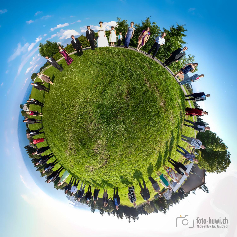 Das Gruppe als Little Planet, ein aussergewöhnlicher Blickfang!