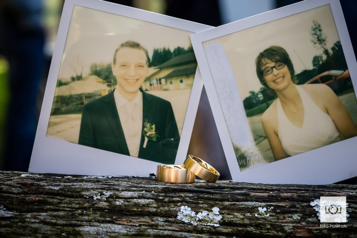 Ringfoto mit Polaroids