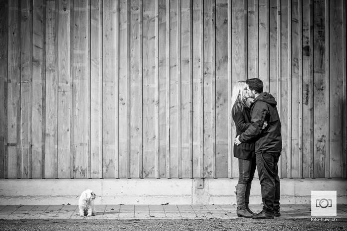 Paarfoto mit Hund Bolonka