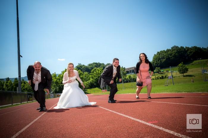Sportliches Brautpaar